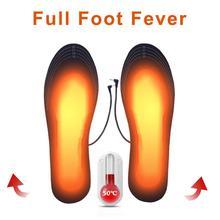 Semelles chauffantes des pieds par USB   1 paire, semelles chauffantes des chaussures, tapis de chaussettes, hiver, Sports de plein air, semelles chaudes dhiver