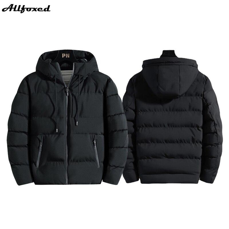 Парки мужские зимние, утепленные парки с капюшоном, повседневная трендовая куртка в Корейском стиле, зимняя одежда