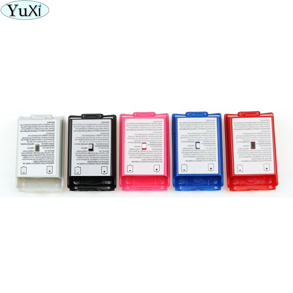 YuXi 100 paquete de baterías para PC cubierta funda protectora Kit para Xbox 360 controlador inalámbrico de alta calidad negro rojo blanco cubierta de batería
