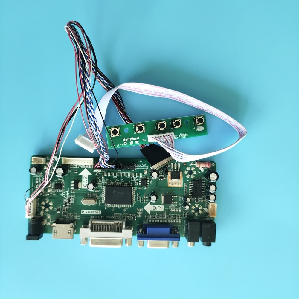 "Набор для HB140WX1-200 DVI аудио LCD светодиодный DIY 2019 драйвер VGA HDMI панель экрана плата контроллера 1366X768 14 ""BOE Display"