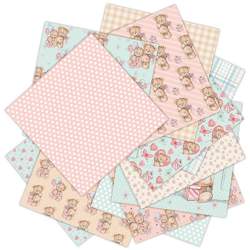 12 Sheets Scrapbooking Packs Paper DIY Album Hand Account Background Pads Paper Card Making Scrapbook Paper Craft