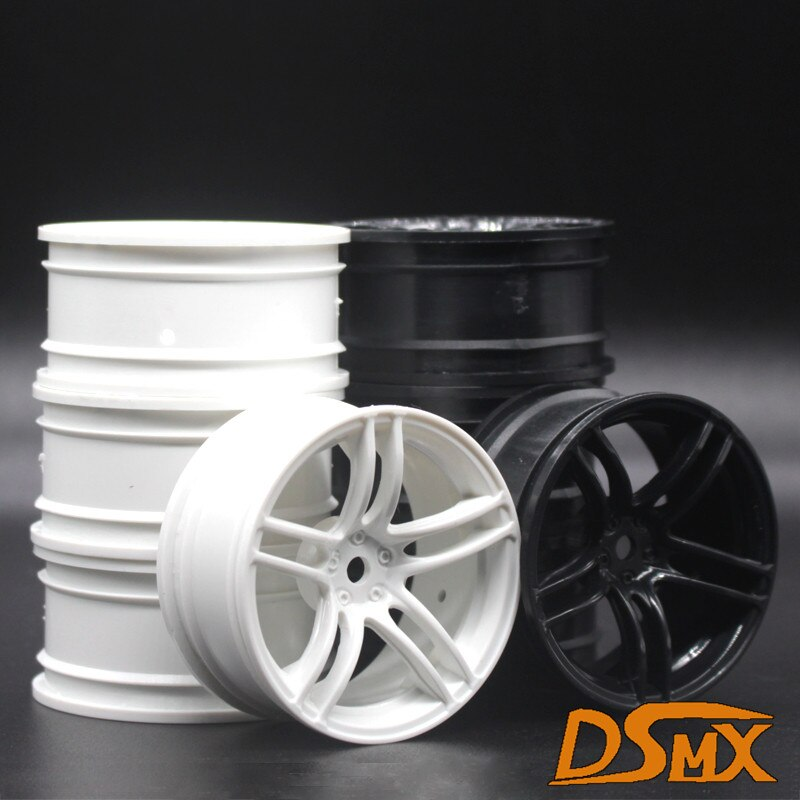 4 pçs 1 conjunto de plástico roda aro caber hpi hsp rc modelo 110 on-road carro de corrida 9064 para hsp94123/94122/94103/d4/d3