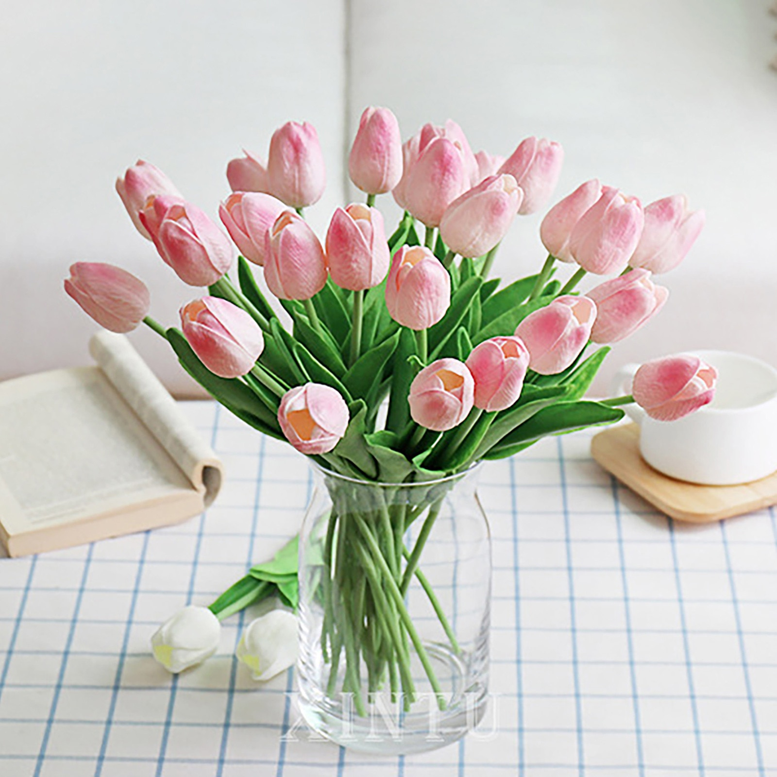 10Pcs/bunch Real touch soft silicone Artificial tulips Flower for home wedding decoration Fake bridal hand flowers flores tulip