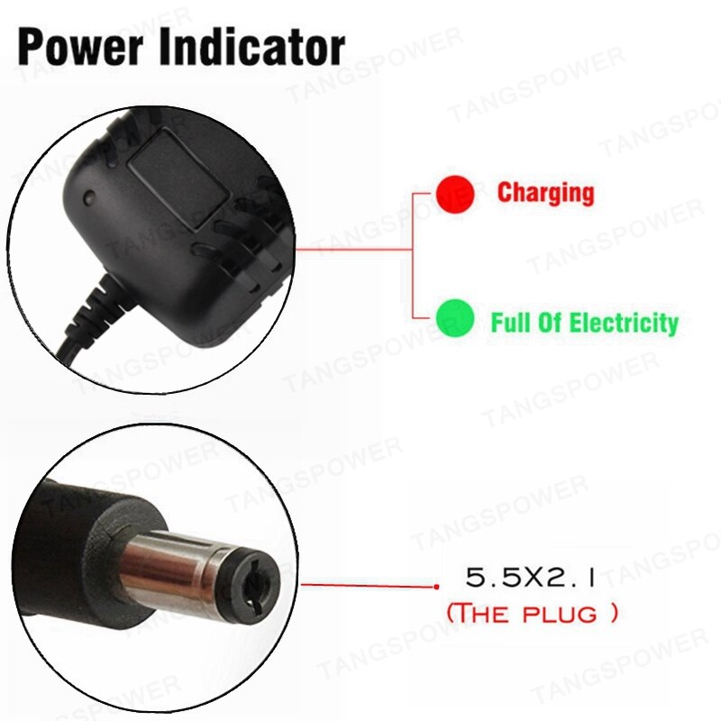 25.2V 1A Lithium Battery Charger For 6Series Li-ion Battery pack Portable Wall Charger DC 5.5mm*2.1mm Connector Plug EU/US