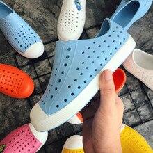 2019 neue Kinder Nativ Gelee Schuhe Sommer Croc Schuhe Scarpe Kinder Garten Schuhe Jungen & mädchen Beach Hohl PVC Maultiere clogs