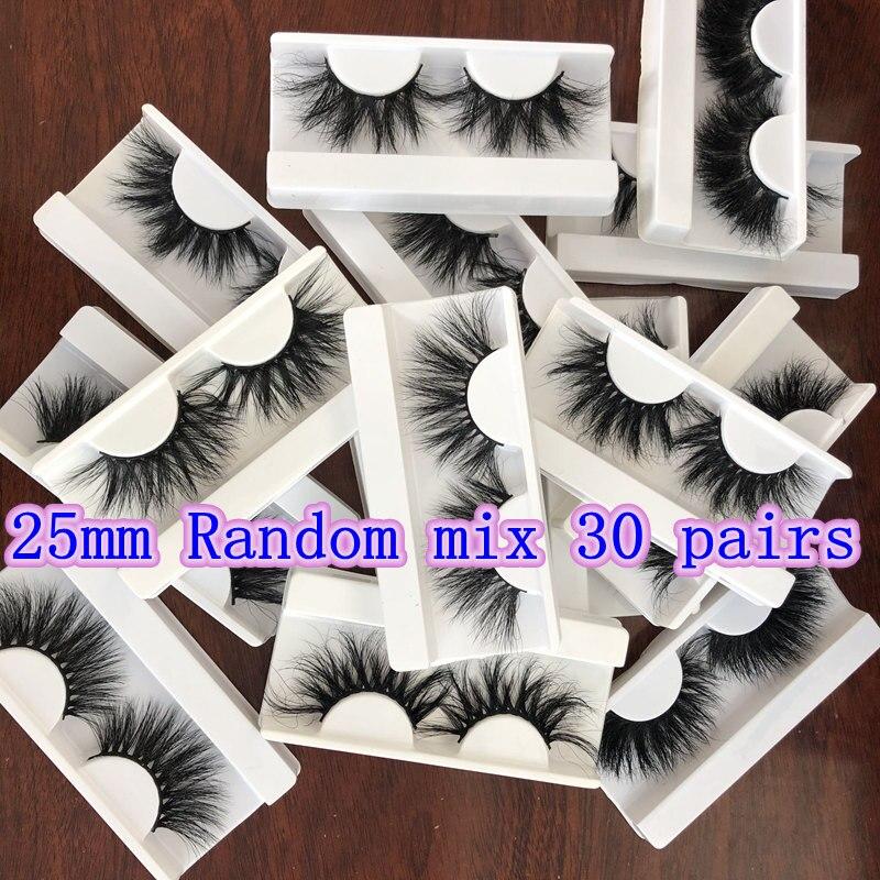 Wholesale Random mix 30 pairs no box Mikiwi Eyelashes 3D Mink Lashes Handmade Dramatic 25mm mink lashes