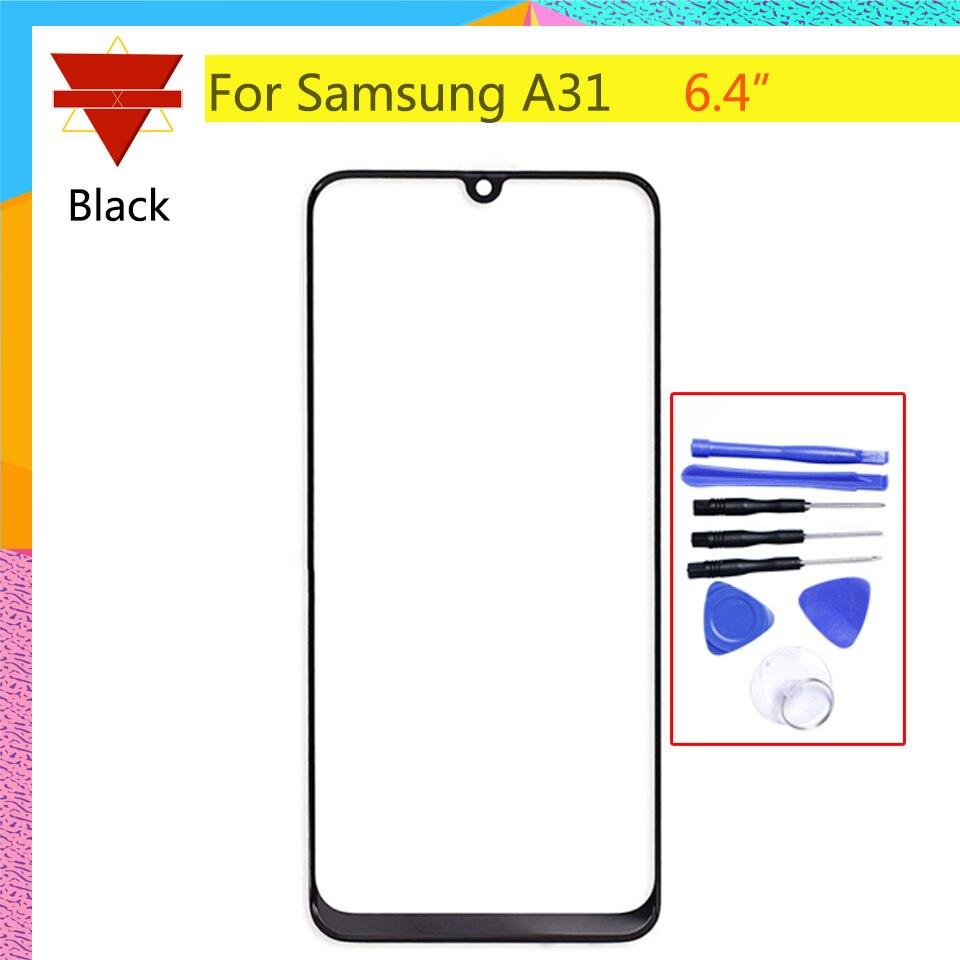 Para Samsung Galaxy A31 pantalla táctil Panel frontal de cristal LCD lente de pantalla exterior A31 A315 SM-A315F/DSN cristal frontal