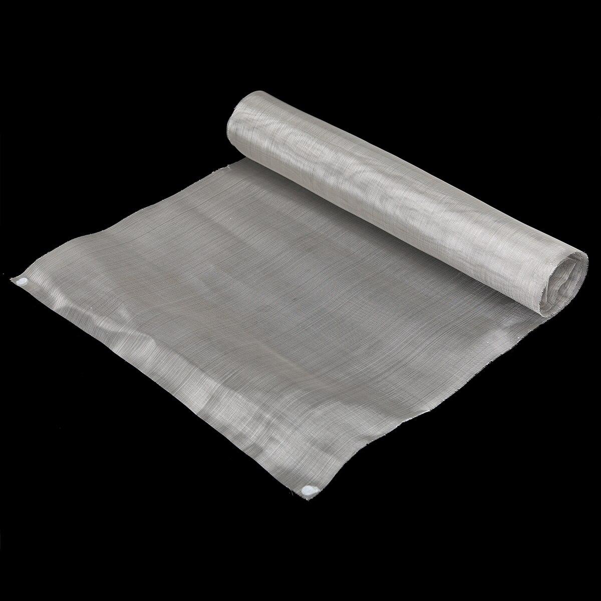 1 piezas 50 de malla de tejido de alambre de acero inoxidable de plata tejida de tela de alambre de pantalla con alta resistencia a la temperatura
