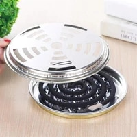 portable mosquito coils holder large hotel metal repellent rack with cover mosquito coil tray summer anti mosquito home supplie