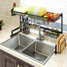 Stainless steel sink airing rack kitchen shelf, sink washing rack, knife dishes, chopsticks and chopsticks board shelf