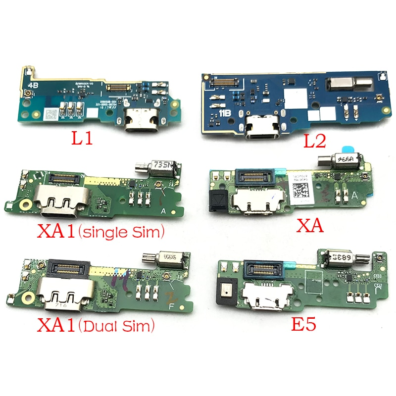 1 Uds conector Cargador Micro USB de puerto de carga cable flexible de micrófono de la Junta para Sony Xperia E5 L1 L2 M5 XA XA1 XA2 Ultra