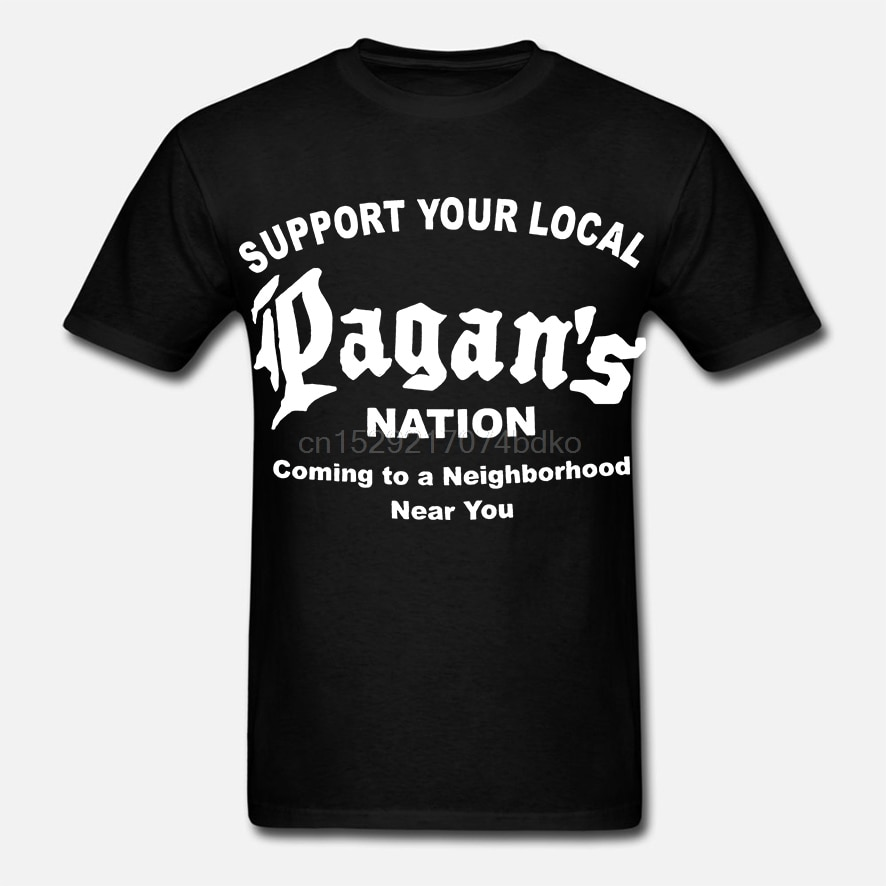 Raro pagano MC camisa de apoyo Mongols Bandidis PAGANS Camiseta talla S _ 3XL mejor