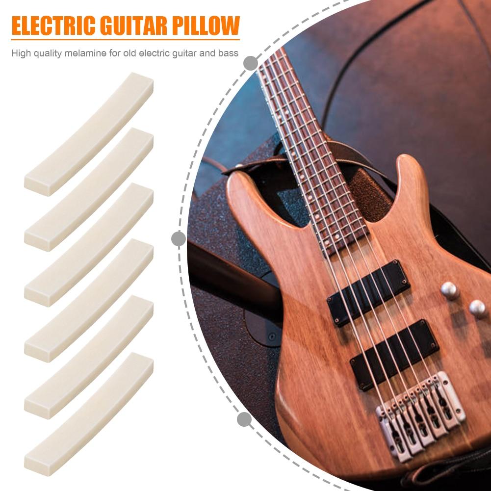 1/3 Uds. Guitarra eléctrica hueso de ganado silla de montar en blanco tuerca de cuerda para guitarra eléctrica bajo piezas de repuesto instrumento Musical