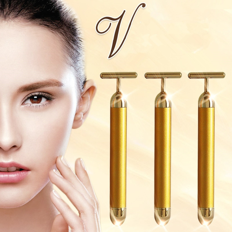 Face Facial Derma Skin care Wrinkle Treatment Roller Massage Energy Beauty Bar Massager electric Beauty health Care tool