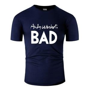 Винтажная Футболка Andi Warlor Bad с круглым вырезом, Мужская футболка размера плюс S-5xl, 100% хлопок, хип-хоп