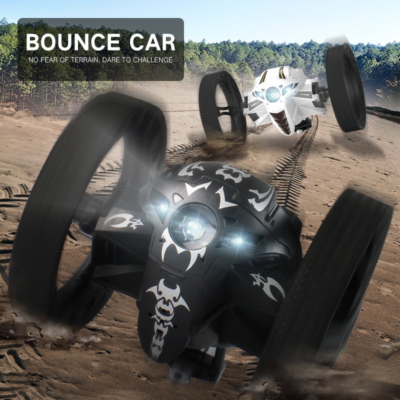 Jumping Car Rc With WIFI Camera 2.4G Flexible Wheels Rotation LED Night Light Robot High Stunt Bounce Car Toys For Children enlarge
