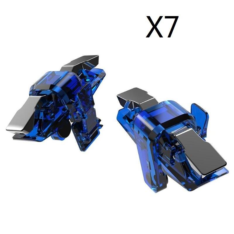 X7 L1 R1 المحمول لعبة تحكم غمبد الهاتف لعبة الزناد النار اطلاق النار الهدف زر المقود ل PUBG الألعاب 50 زوج/الوحدة