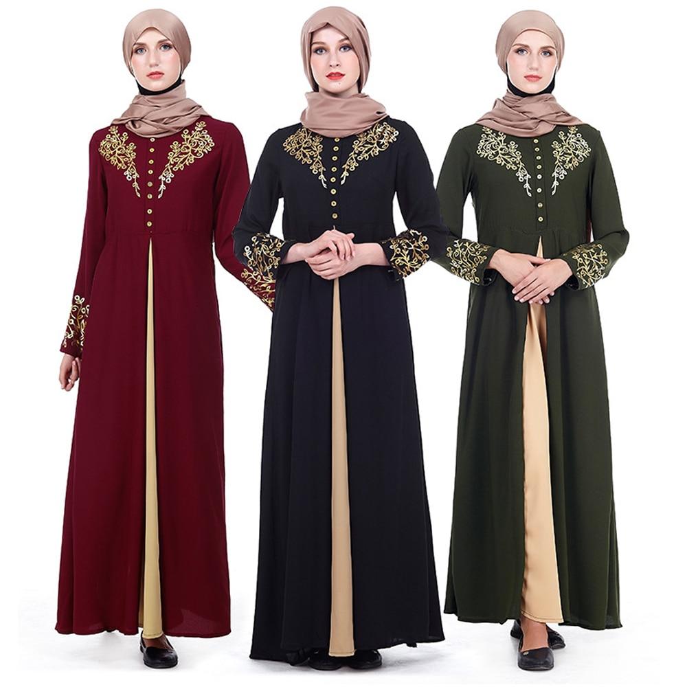 MD-فستان إسلامي طويل ، عباية ، دبي ، قفطان ، تركي ، باكستاني ، مغربي ، طباعة الأزهار ، فستان إسلامي ، بدون حجاب