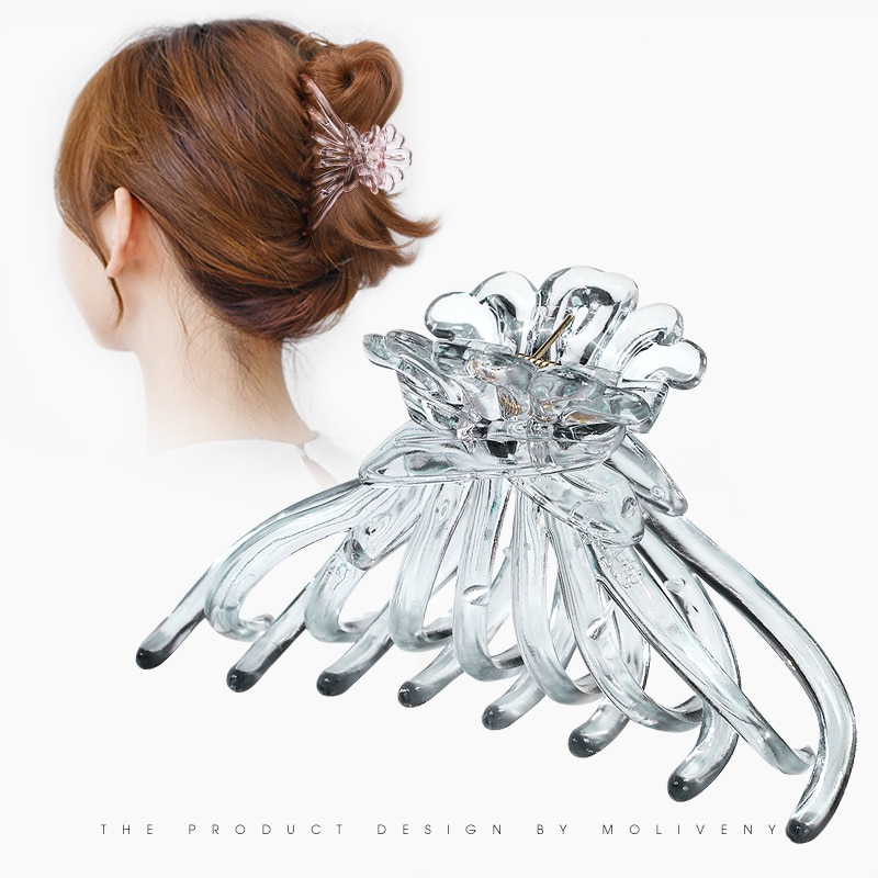 Large and Medium Size Bath Hair Claw Korean Female Headdress Top Clip Simple and Elegant Versatile U