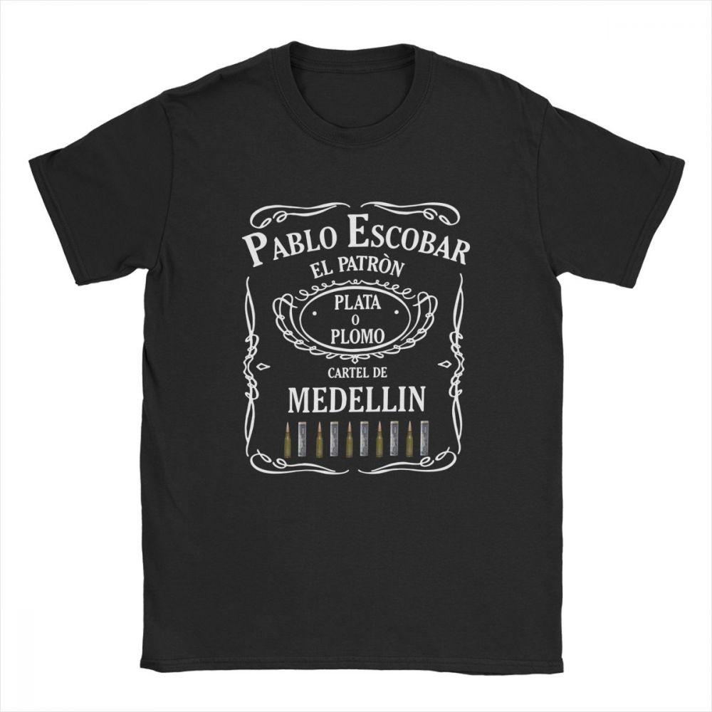 Camisetas de Pablo Escobar El patrón para hombre, camisas de manga corta...