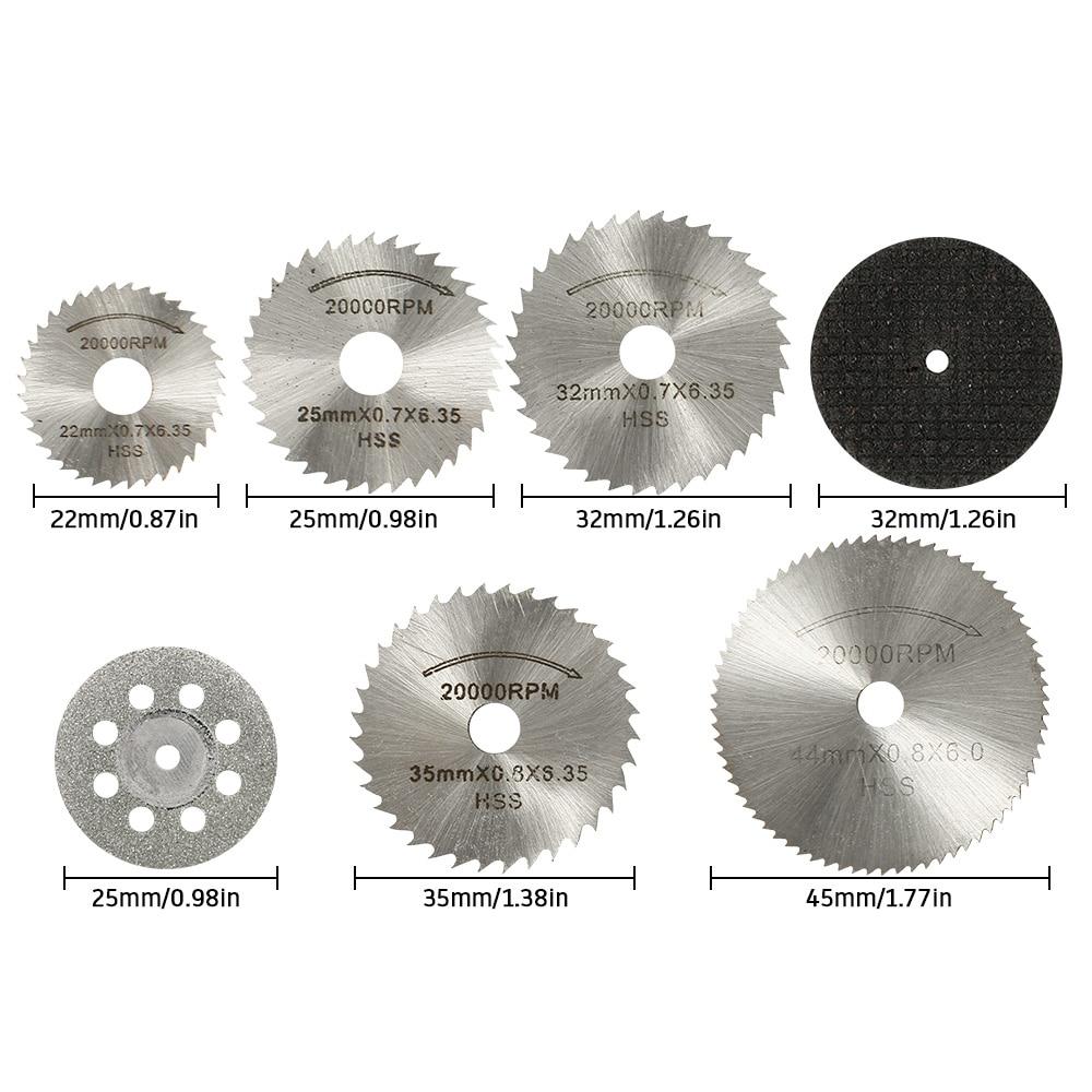 31 Uds ruedas de corte de diamante HSS hoja de sierra circular - Herramientas abrasivas - foto 6