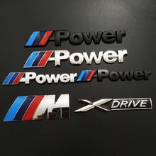 For BMW X5 X6 M power E S X drive standard 3D stereo metal car sticker modified car Styling tail lab