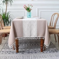 nordic ins wind tablecloth striped tassel table cloth square table cloth art hotel home coffee table table cloth mat