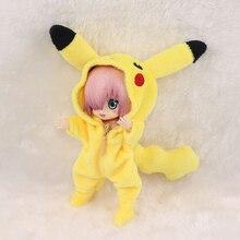 Nouveau ob11 bjd poupée mignon costume pour 1/12 bjd, obitsu11,ob11 poupée accessoires vêtements Pikachu poupée vêtements