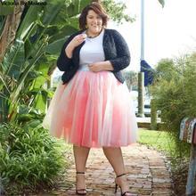 Hiver Tutu Jupe femmes filles princesse moelleux plissé Secret grande taille rose femmes Jupe Femme Faldas Rokken personnalisé Tulle jupes
