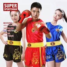 Hommes femmes Kick boxe chemise Muay Thai Shorts pour garçon fille Performance formation uniforme enfants MMA vêtements enfants combat vêtements costume