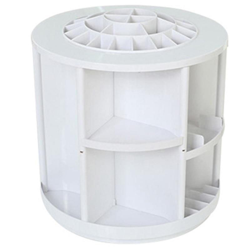 360 grados de rotación organizadores cosméticos maquillaje redondo de almacenamiento de gran capacidad estante cosmético caja de