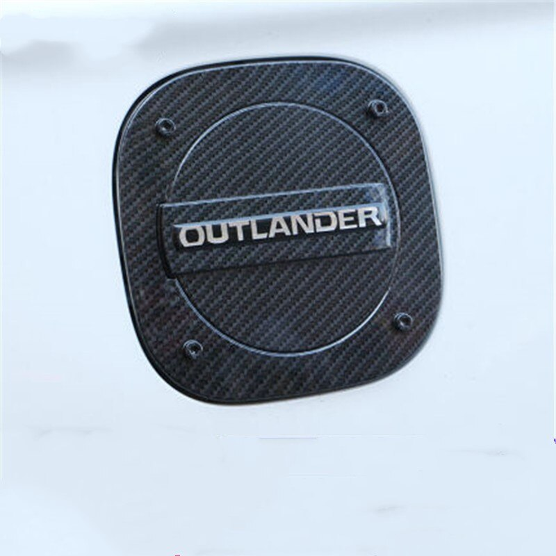 Diseño de coche para Mitsubishi Outlander 2013 -2019, tapa de tanque de combustible cromado ABS, cubierta de tanque de Gas, cubiertas de coche, piezas de automóvil externas