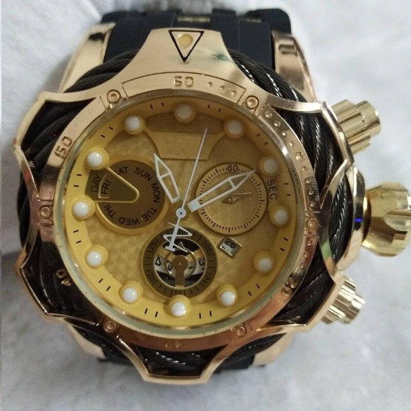 Montres à Quartz de marque supérieure de luxe bracelet en Silicone/alliage montres suisses calendrier pour hommes grand cadran décoration montre daffaires ronde