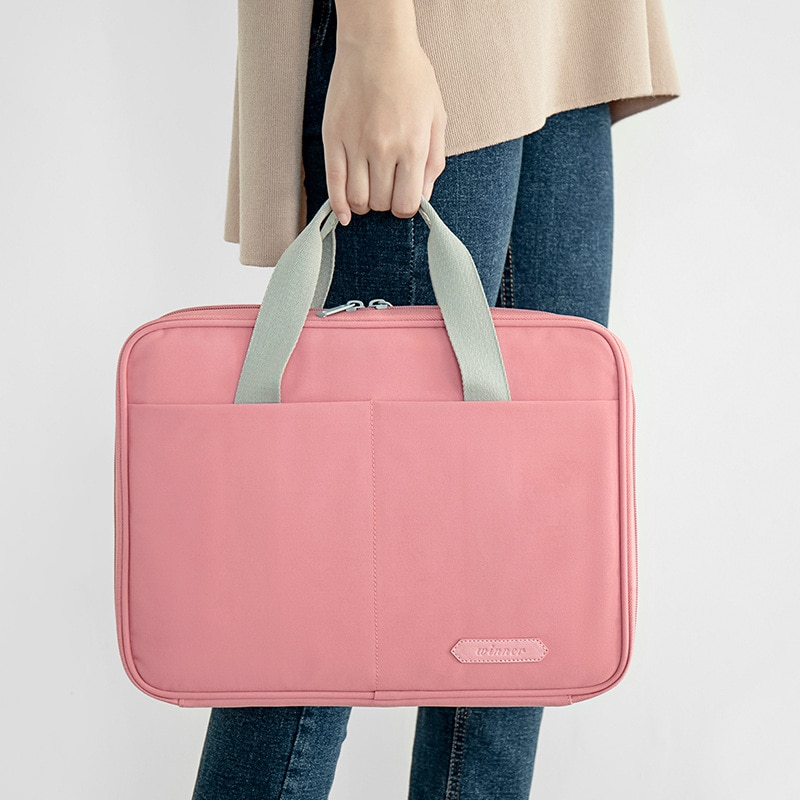 Polyester Business Briefcase Bag IPAD Document  Electronic Storage Digital Power Bank Pouch Organizer Case Accessories Supplies