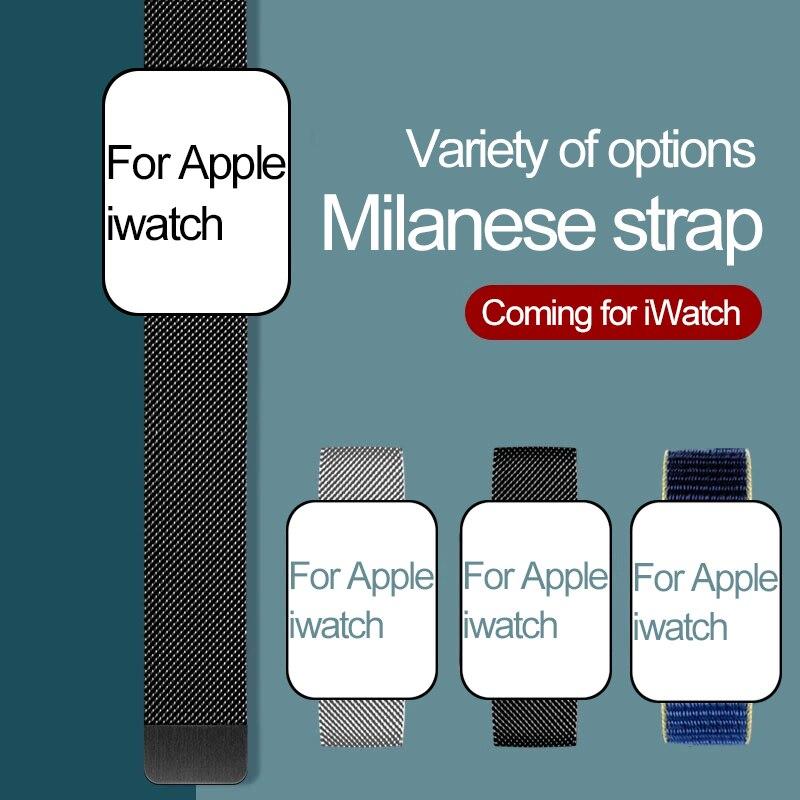 Correa de reloj Apple Watch banda 44mm 40 42 38mm de metal de acero inoxidable pulsera correa de reloj para Apple 6 5 4 3 2 1SE para iWatch banda