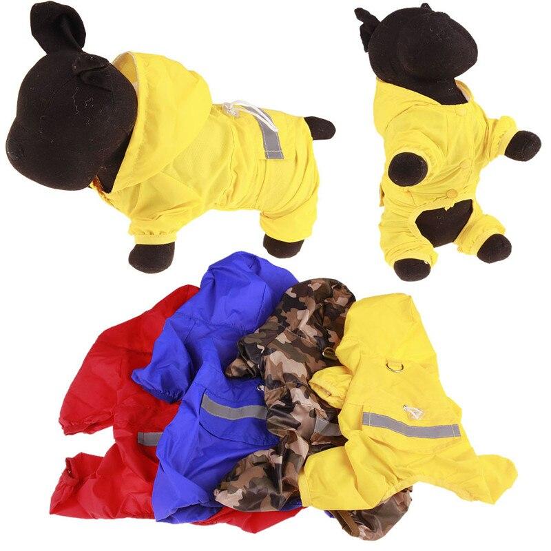Pet Cat Dog Raincoat Hooded Reflective Puppy Rain Coat Outdoor Clothes Windproof Design Waterproof