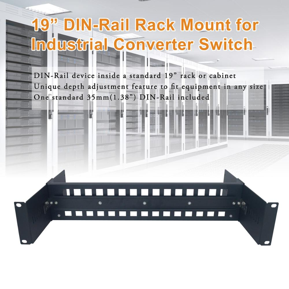 2U 19 inch Adjustable rack mount din rail Chassis in Cabinet 19
