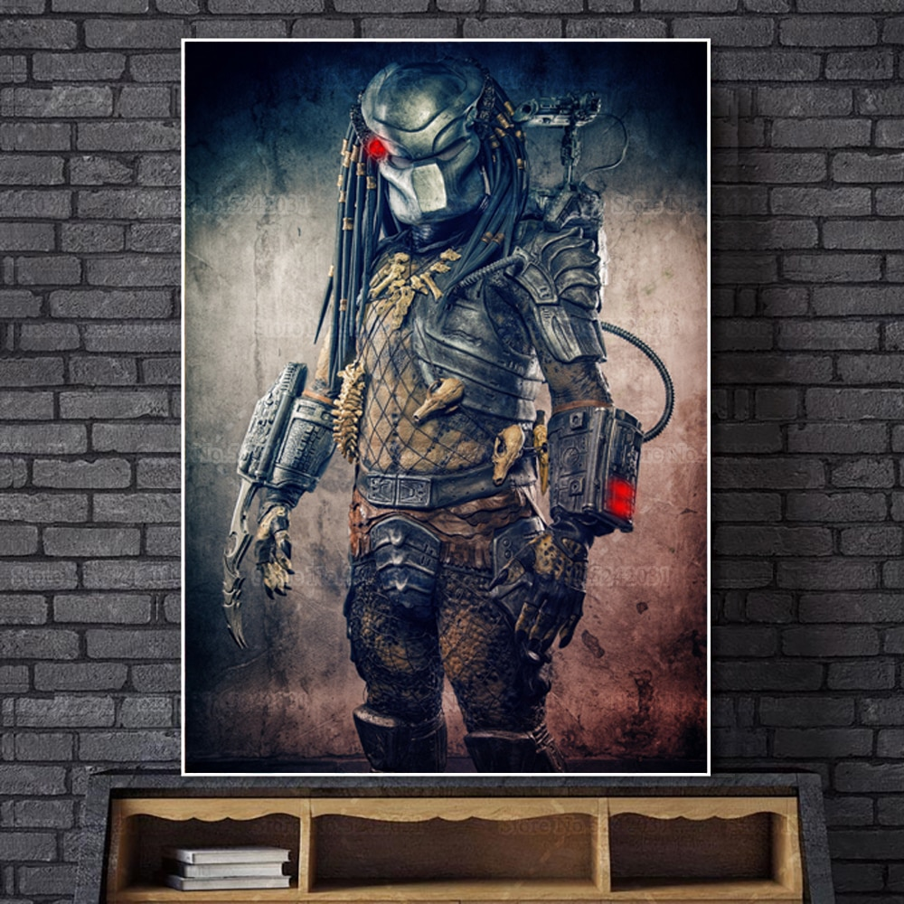 Cool Predator 5D, pintura de diamante completo, película clasica, retrato de depredador, Kit de bordado de punto de cruz, regalo de decoración