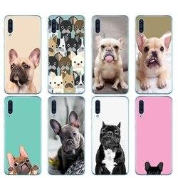 Capa de silicone para samsung galaxy, s10 e plus, a10, a20, a30, a40, a50, a70, a10e, a20e, m20 capa bulldog francês filhote de cachorro