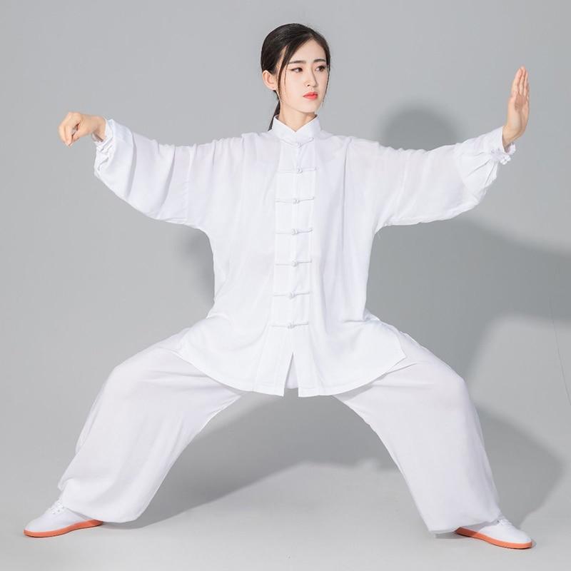 USHINEUnisex Taichi однотонный хлопок 6 цветов Высокое качество Wushu Kungfu детская одежда для взрослых единоборств WingChun костюм| | | АлиЭкспресс