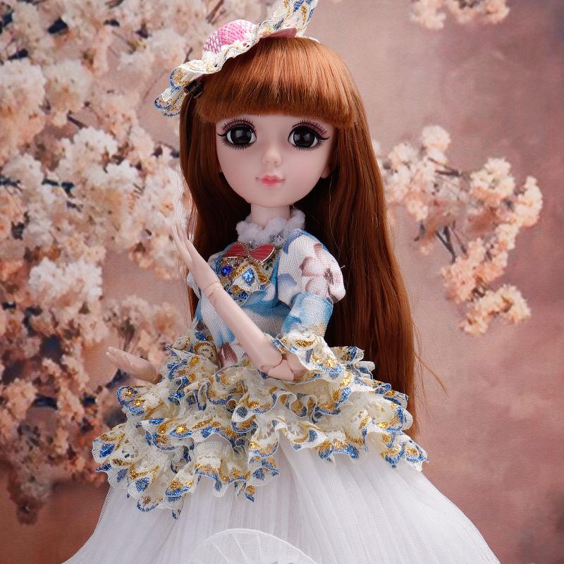Nueva muñeca Bjd de 45cm 20 articulada movible con accesorios DIY, vestido de princesa, ropa de moda para cambiar de ropa, juguetes, regalos para niñas