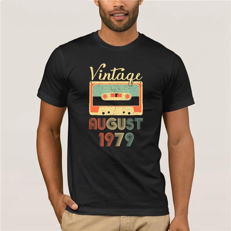 Camiseta de manga corta para hombre 2019 estilo de moda nueva agosto 1979 Retro Vintage 39 cumpleaños perfectamente envejecido