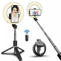 new selfie stick selfie ring light wireless bluetooth selfie stick mini tripod handheld extendable selfie stick with remote