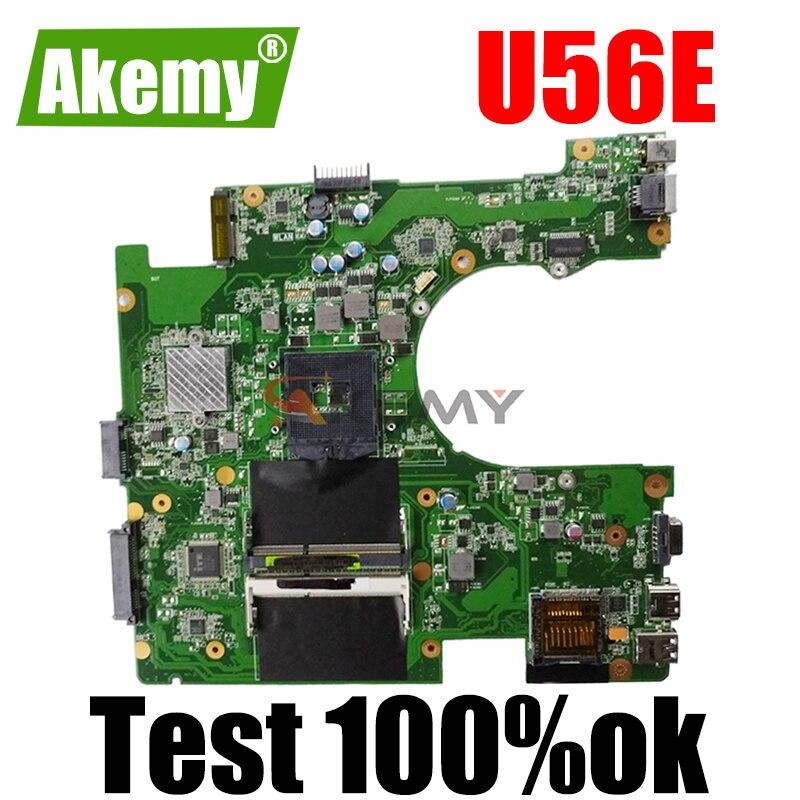 U56E لوحة أم للكمبيوتر المحمول For Asus U56E U56 DDR3 HM65 لوحة أم اختبار العمل 100% الأصلي