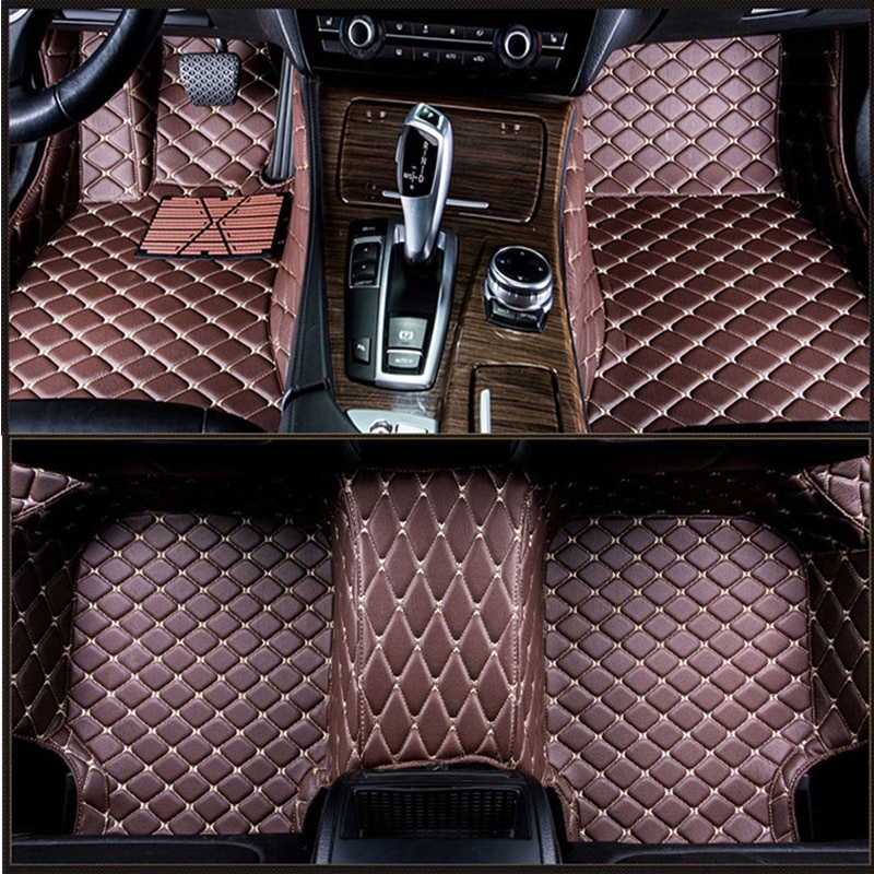 Alfombrillas de coche personalizadas para Cadillac SLS ATSL CTS XTS SRX CT6 ATS Escalade, accesorios de coche, alfombrillas personalizadas de Estilo negro/rojo
