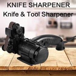 Apontador de faca elétrica 1000grit moagem areia cinto ângulo fixo apontador adge apex afiar ferramentas carpinteiro tesoura cozinha