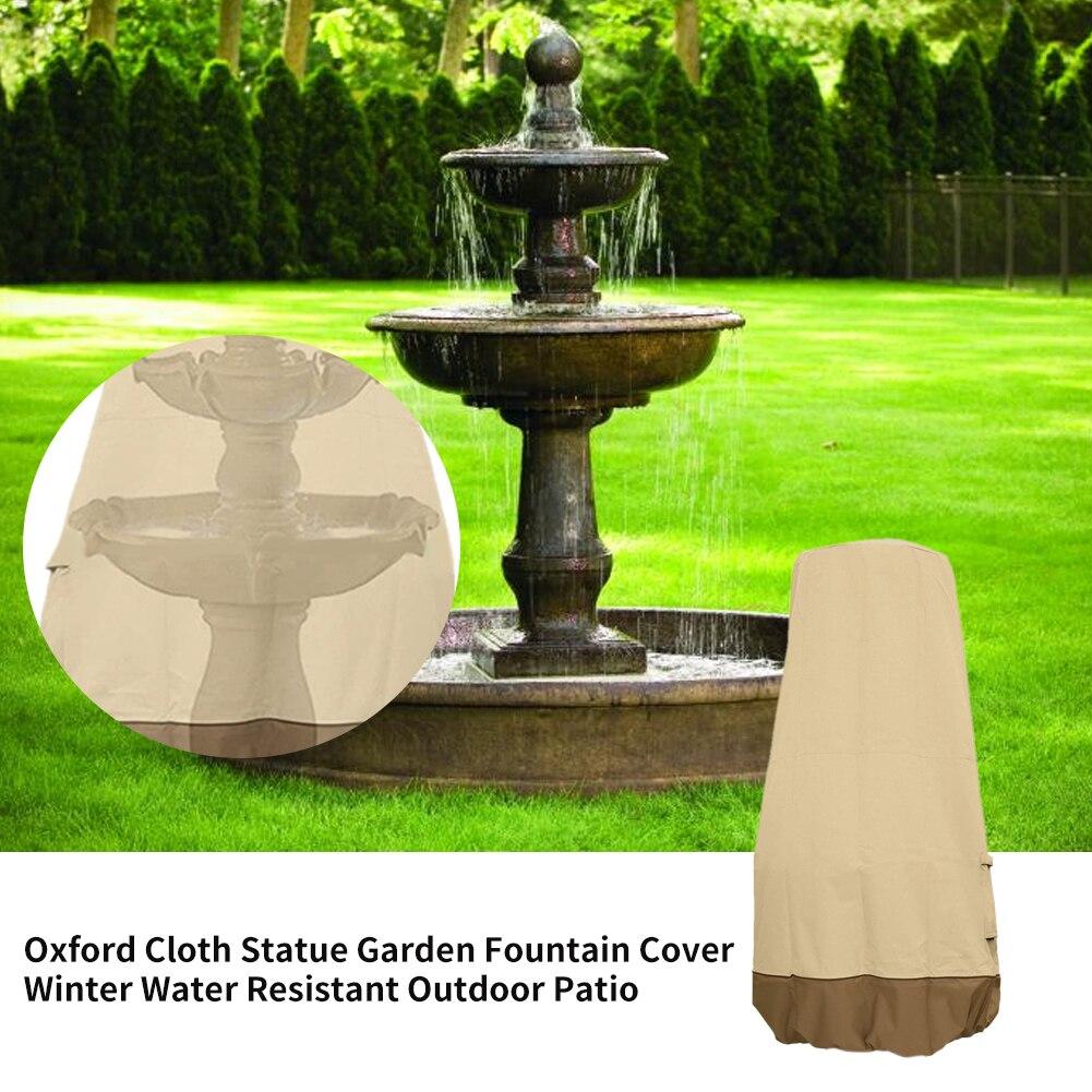 Accesorios cubierta de fuente de jardín tela Oxford Anti polvo estatua de Patio exterior para el hogar con cordón muebles de protección de invierno