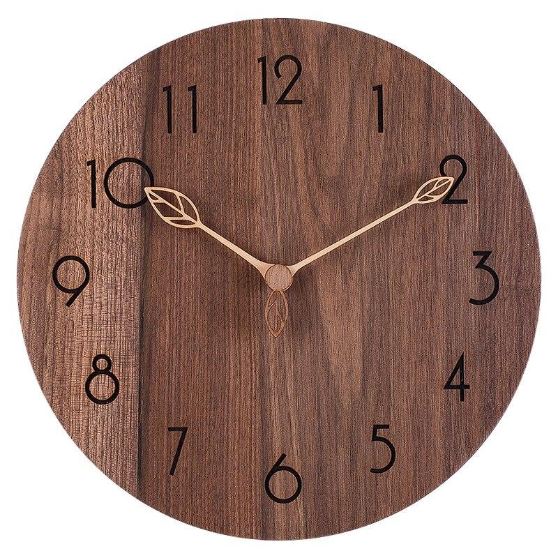 Большие деревянные настенные часы Ретро современные кухонные однотонные деревянные часы потертые шикарные часы для гостиной часы для дома...