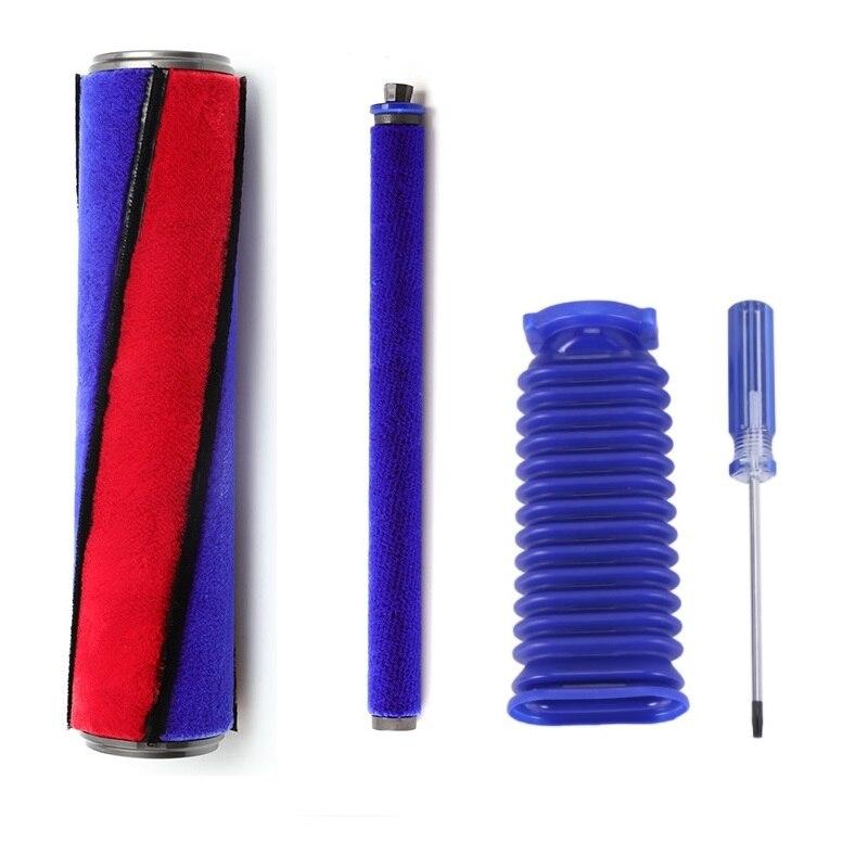 لينة الأسطوانة فرشاة الأزرق خرطوم عدة ل دايسون V6 V7 V8 V10 V11 مكنسة كهربائية لينة الأسطوانة رئيس استبدال أجزاء