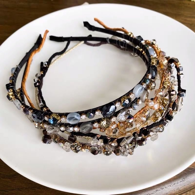 Free Shipping Crystal hairpin sweet headband bangs pressed adult headdress